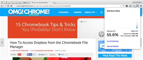 Google Releases Data Saver Extension for Chrome