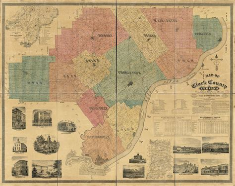 Map of Clark County, Indiana | Library of Congress