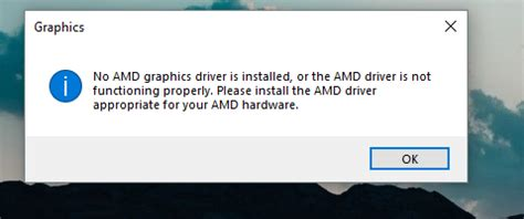 AMD Graphics not getting detected