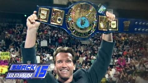 SmackDown gets Terminated by Arnold Schwarzenegger - YouTube