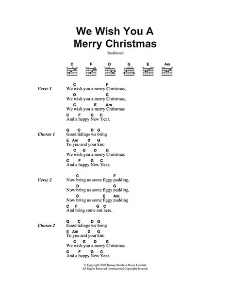 We Wish You A Merry Christmas sheet music by Christmas