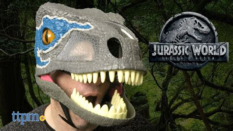 Jurassic World Chomp 'n Roar Mask Velociraptor Blue from