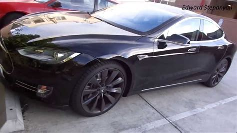 Amazing Blacked Out Tesla Model S 2013 Electric Car - YouTube