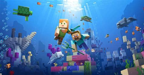 Minecraft Aquatic Update Is Ready To Download On PS4