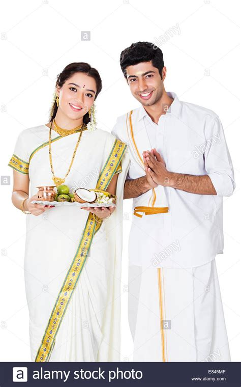South Indian couple Welcome Stock Photo - Alamy