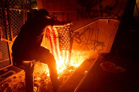 Portland Protesters Gassed After Setting Fire at Courthouse