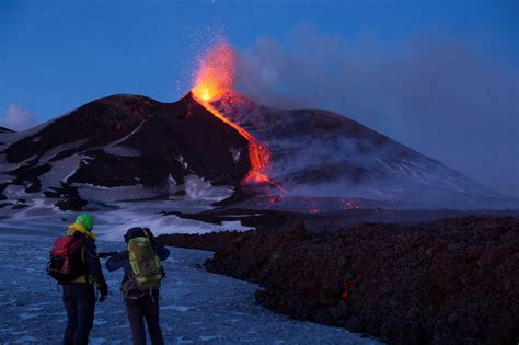 Mount Etna, Europe's Most Active Volcano, Puts On a Show
