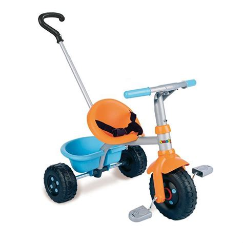 SMOBY Tricycle canne Be Fun Orange - Achat / Vente