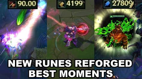 New Runes Reforged Best Moments - Preseason 2018 - League